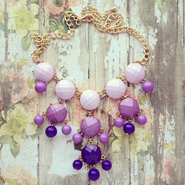 preebrulee: Shades of Lavender Necklace #preebrulee (Taken with Instagram)