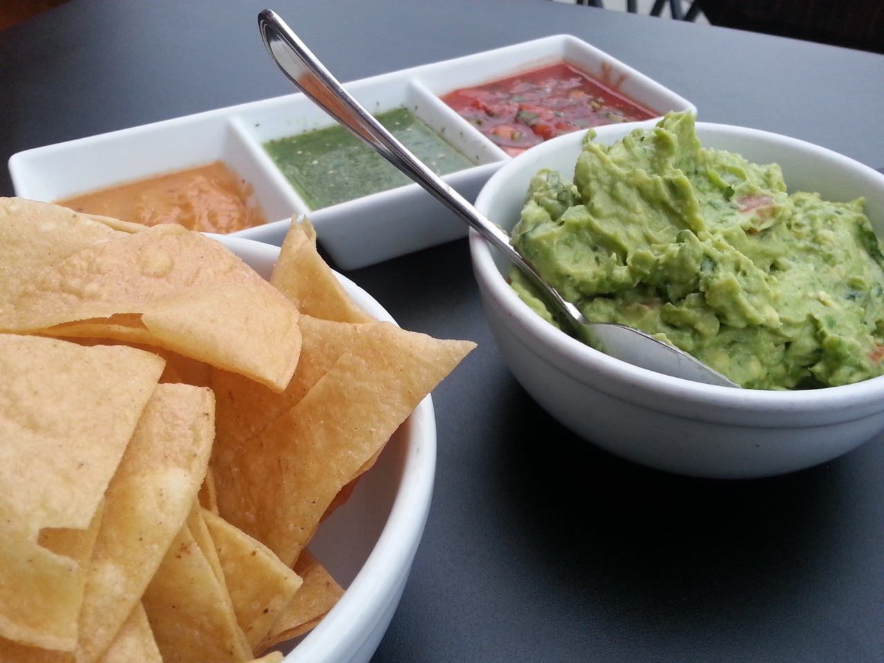A perfect day for outdoor guacamole, chips and margaritas @eltoroblanconyc