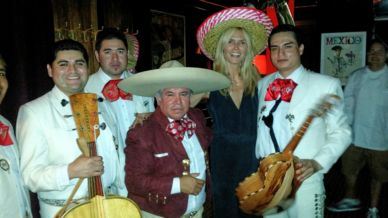 Celebrating another Emmy nomination for Project Runway at ETB with El Chapo D Oro Mariachi band last night.