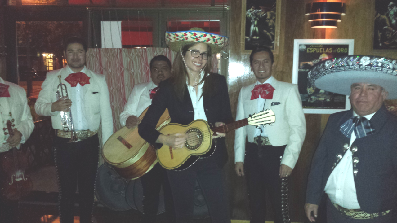 The very talented Desiree Gruber and her Mariachi band