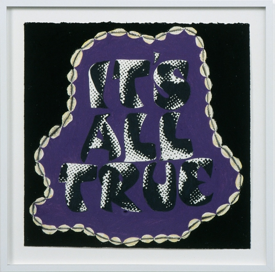 "It's All True , 2003  colored pencil on paper  13.5 X 13.5"" / 34.3 X 34.3Cm"