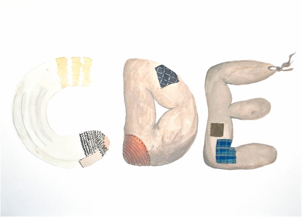HOBO ALPHABET- C, D, E