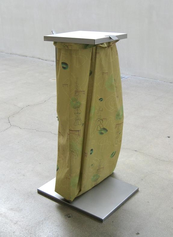 Marte Eknæs,  Disposal , 2013 (featuring Eknæs Alphabet Pattern by Nicolau Vergueiro)
