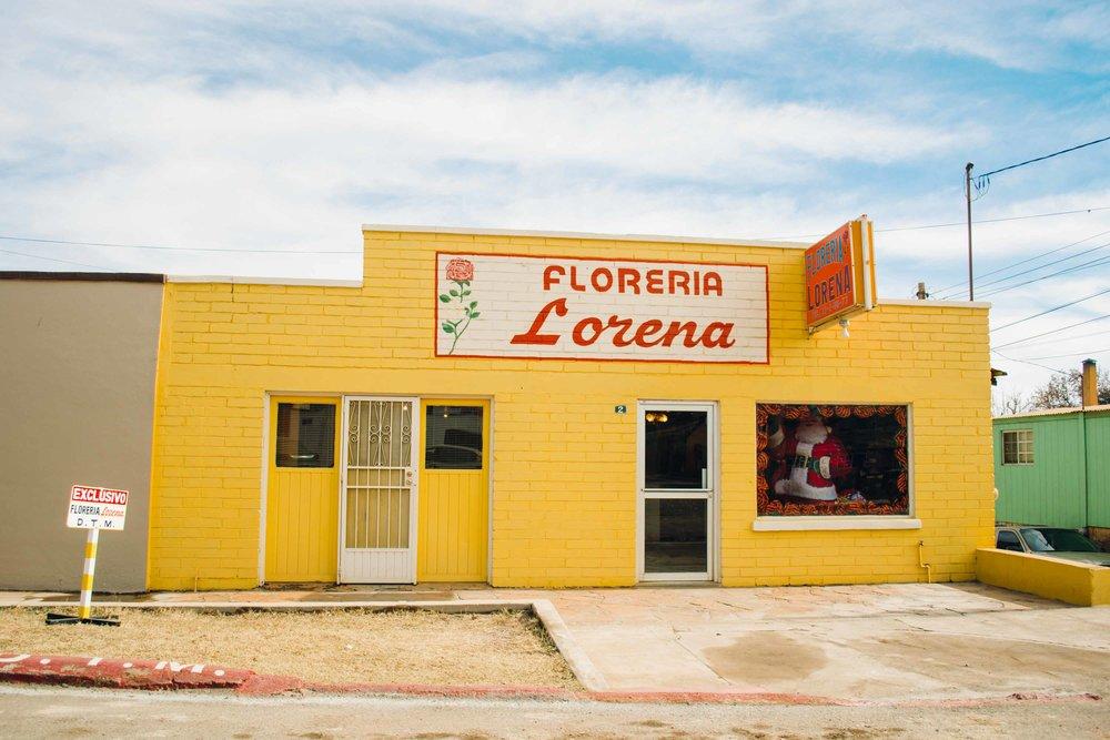 Colorful facade in Cananea, Sonora