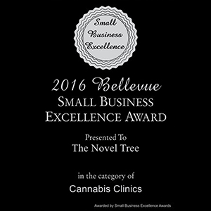 2016 Bellevue Small Business Excellence Award Cannabis Clinics  The Novel Tree