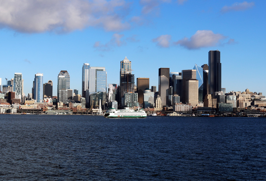Leaving Seattle on the brightest December morning in memory!