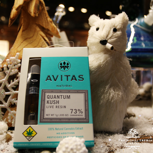 Find very high limonene concentrations in Avitas Quantum Kush Live Resin Cartridge