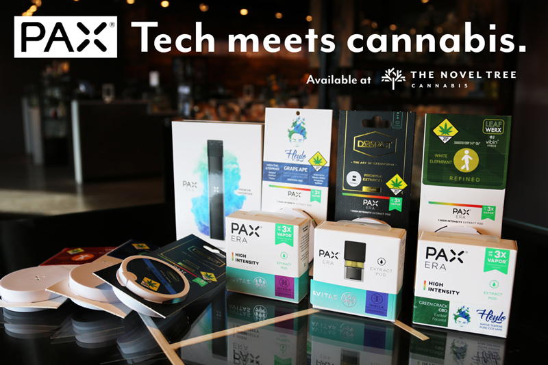 The Novel Tree carries over 30 varieties of PAX Pods from Avitas, Dabstract, Heylo and Leafwerx.