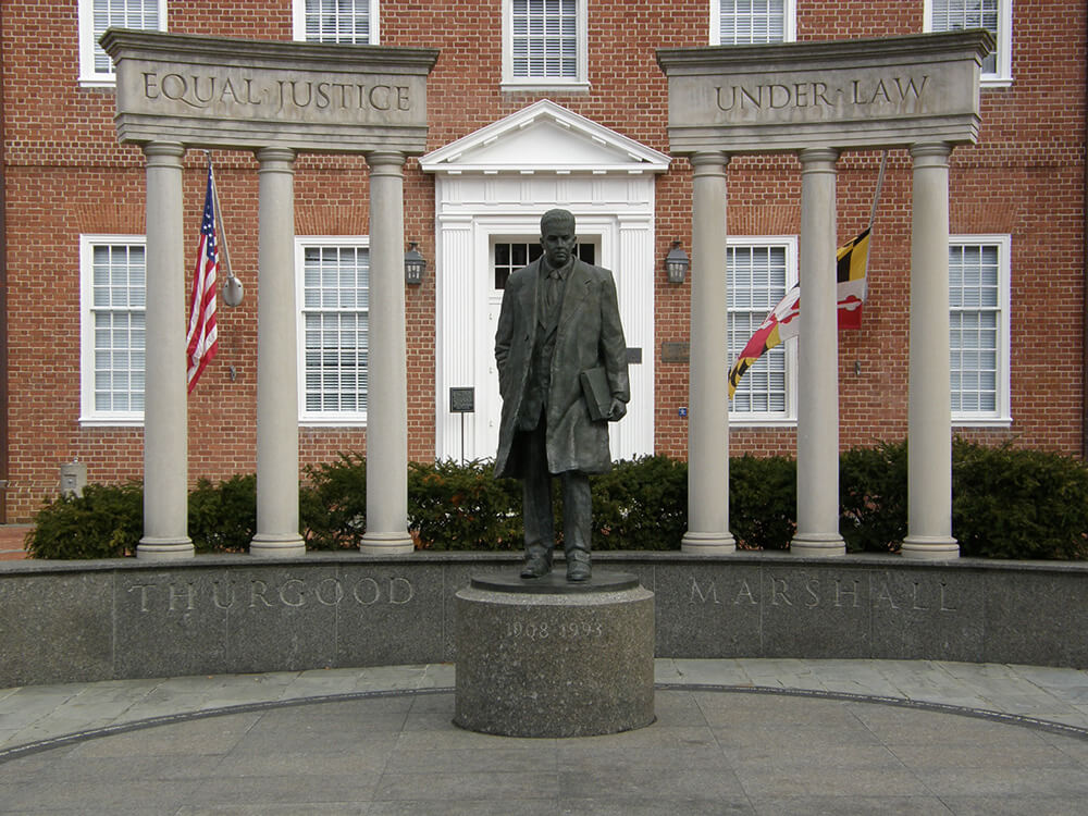 Thurgood Marshall Memorial by Jim Bowen