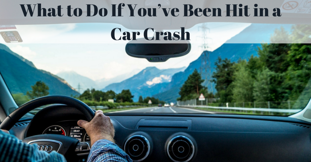 what to do if you've been hit in a car crash