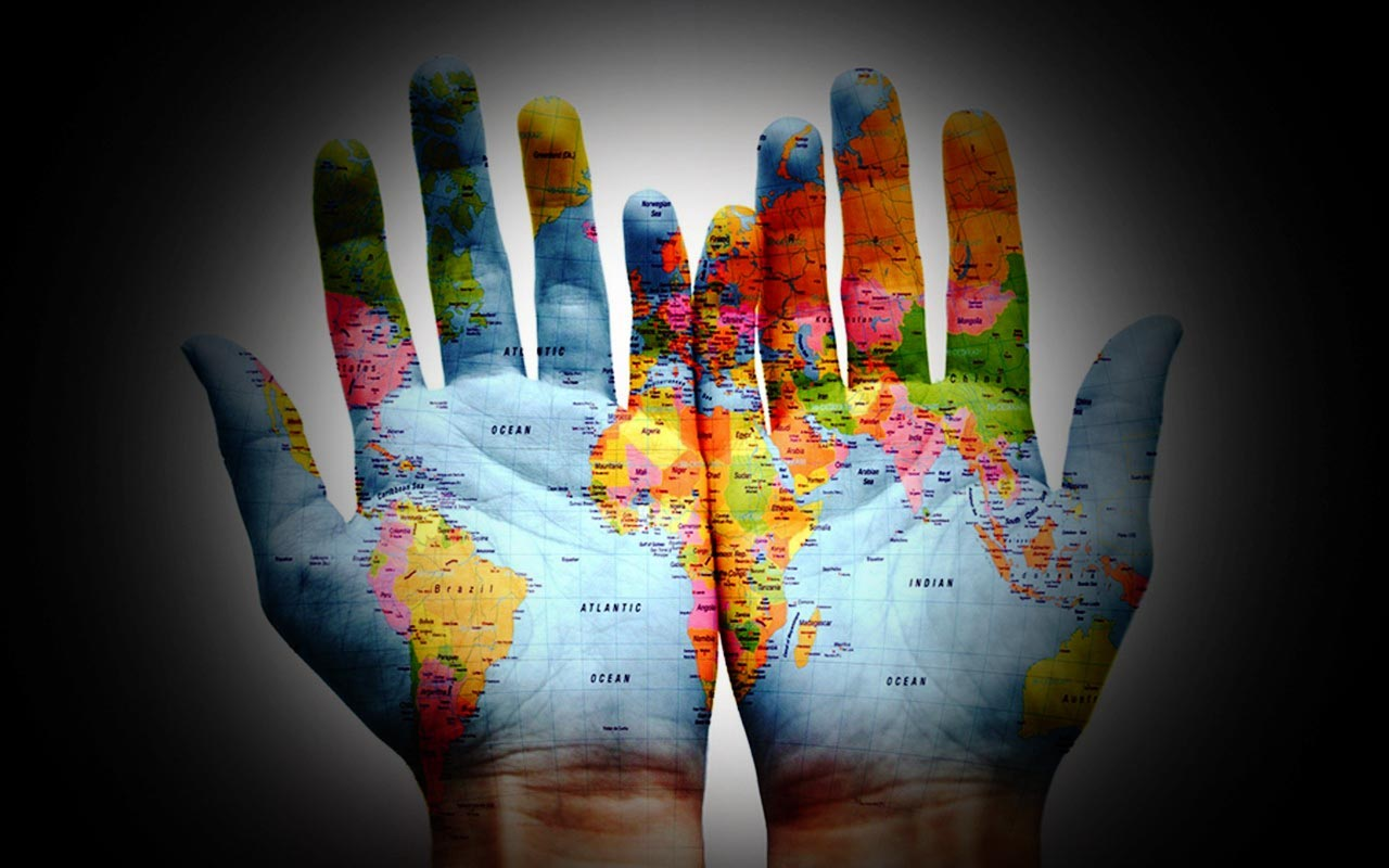 The world in your hands images 14890 world map on hands gumiabroncs Images