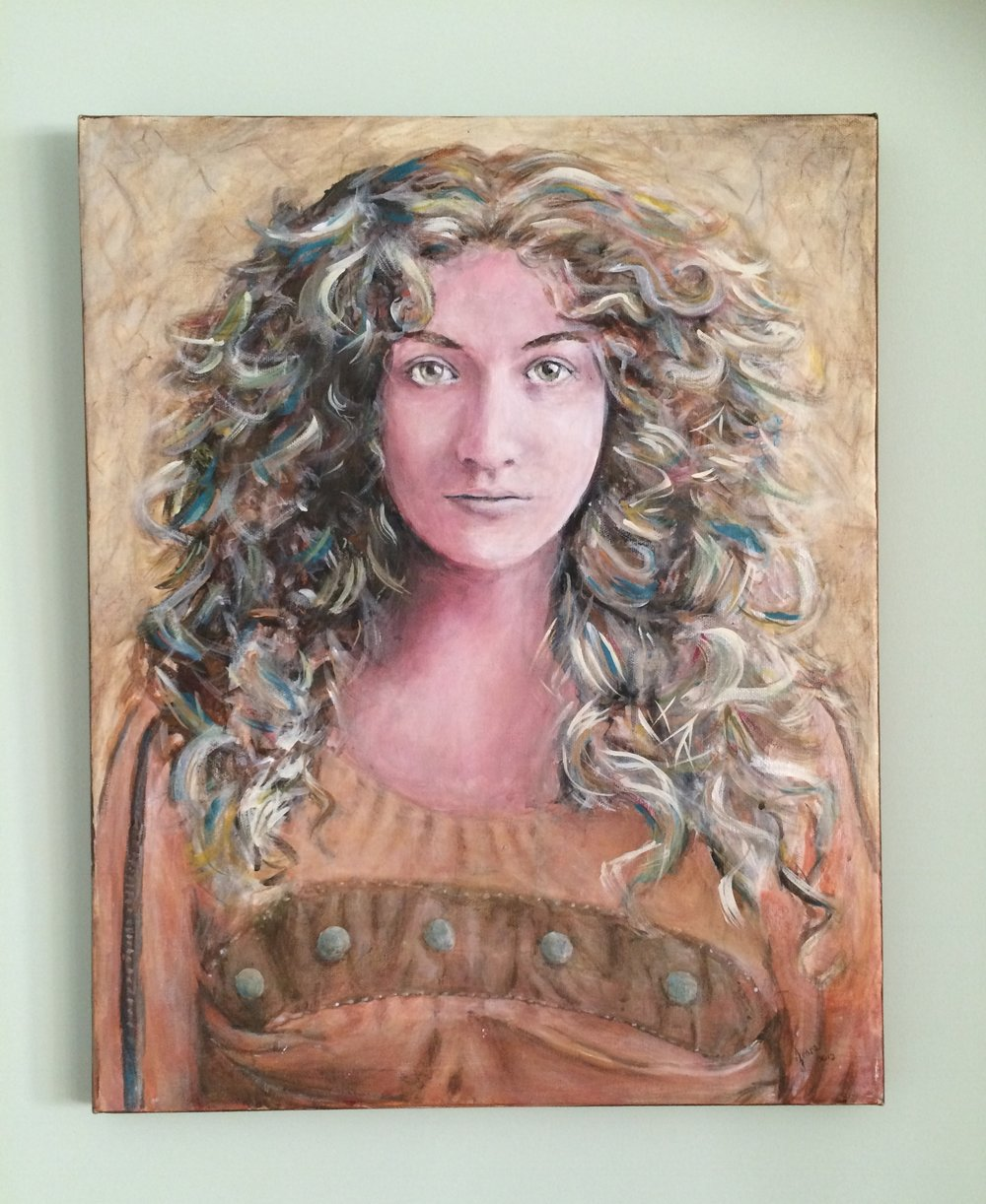 Her name is  Curls.  She's one of my favorite paintings.
