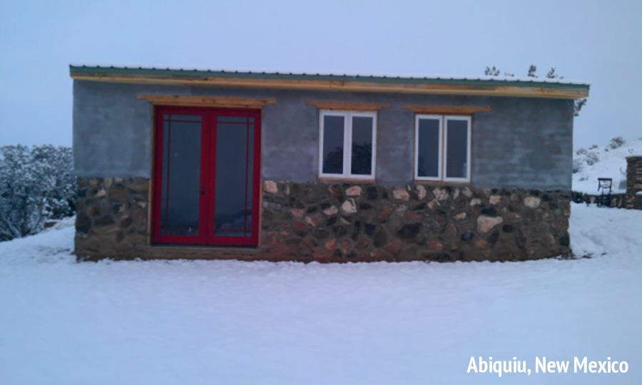 Abiquiu Studio in the Snow