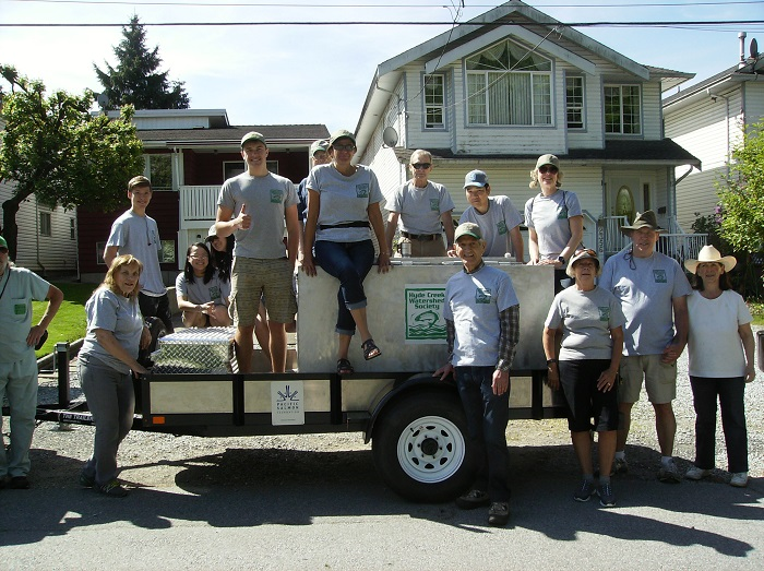 May Day Parade - May 12, 2018Members joined in the Port Coquitlam parade with our float and also our new fish transport trailer and tank. Bill (photo below) was instrumental in designing and building our Hatchery Float.