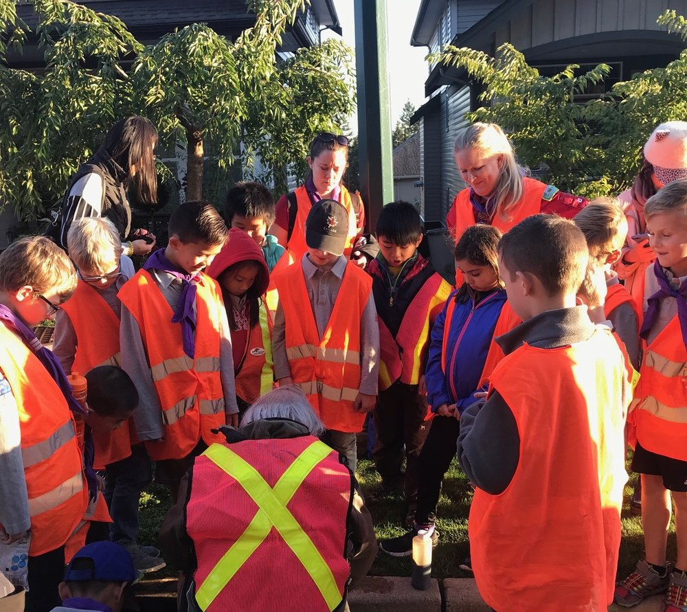 Cubs helping Salmon - Sept 24th 2018Thank you to the cubs who came out to mark some storm drains!