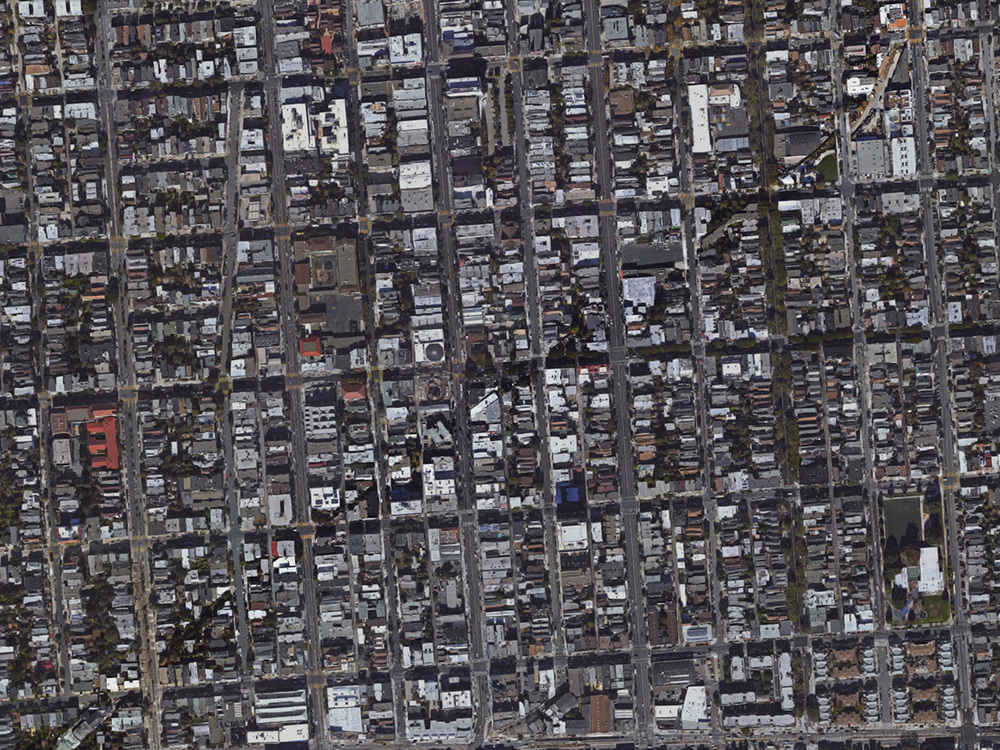 The mission neighborhood with the bones of the old train route           image: googlemaps
