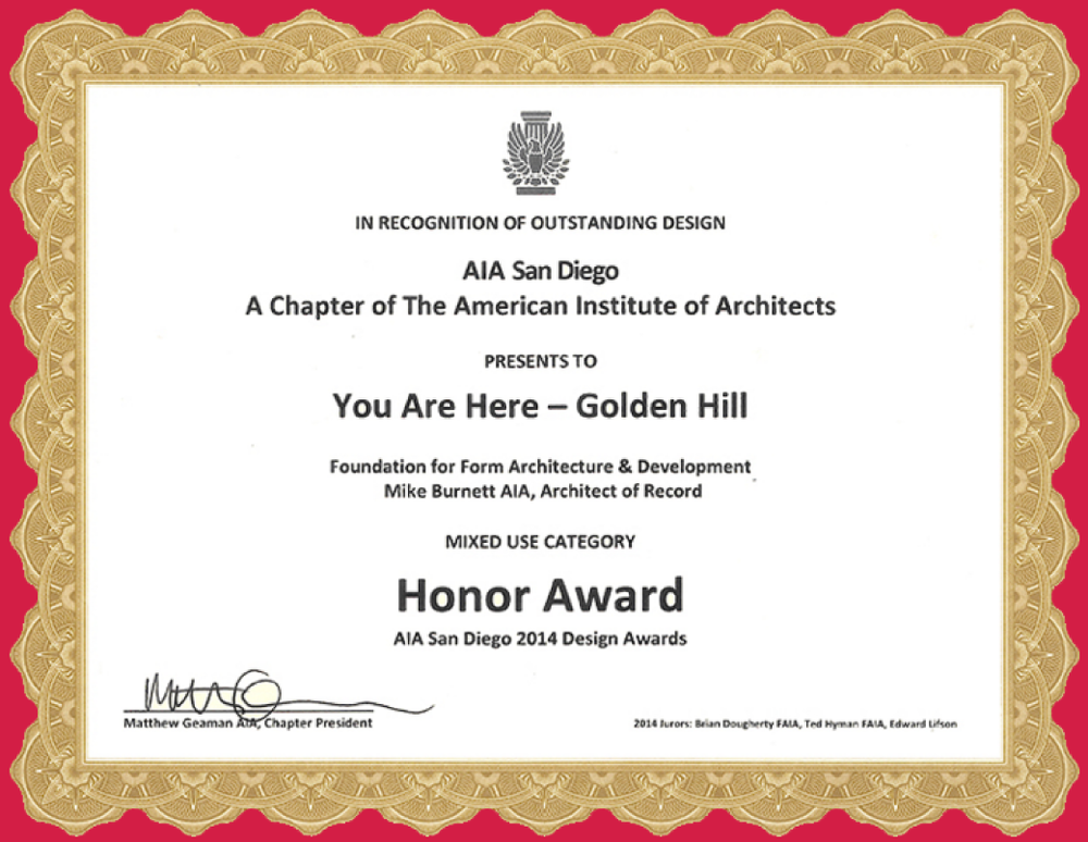FoundationForForm AIA San DIego Honor Award