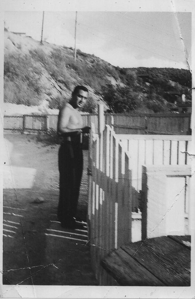 My grandpa at the beach in San Pedro circa 1950