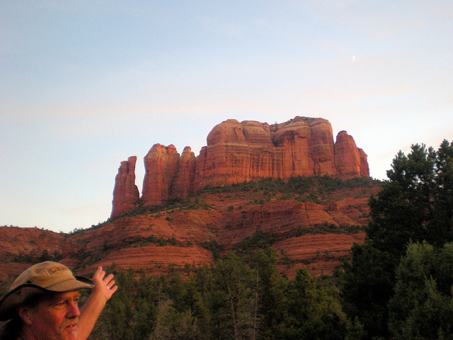 Cathedral Rock, with our vortex guide, Sedona