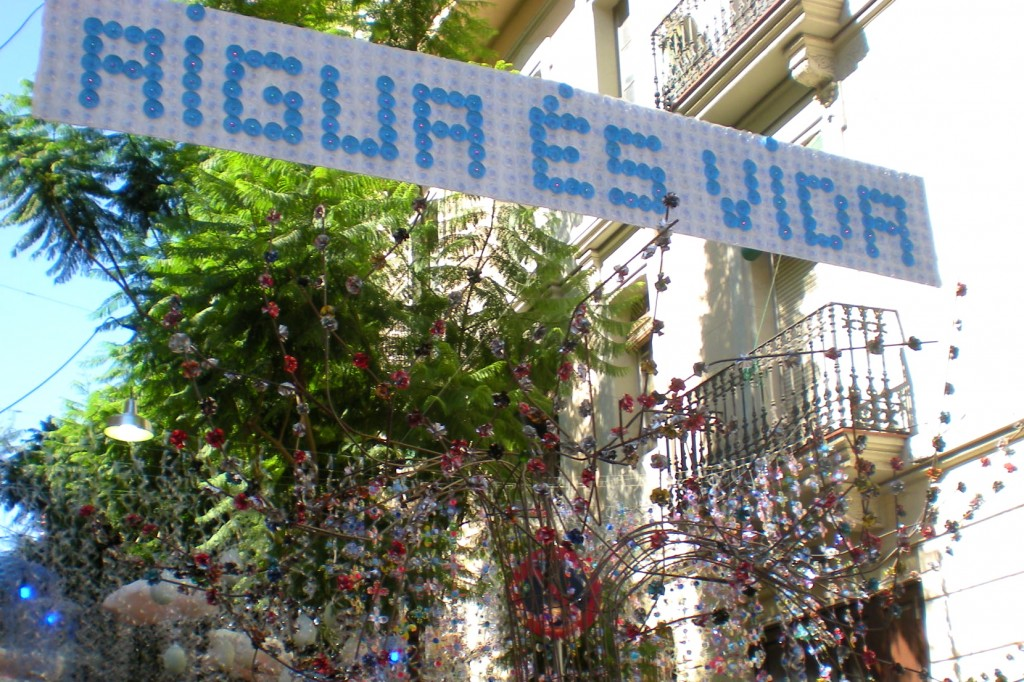 Festa Major de Gràcia - recycled decorations