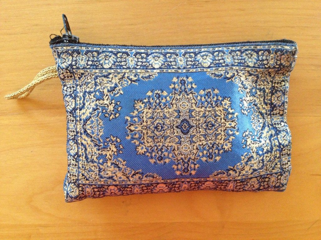 zipper pouch from Istanbul, Turkey