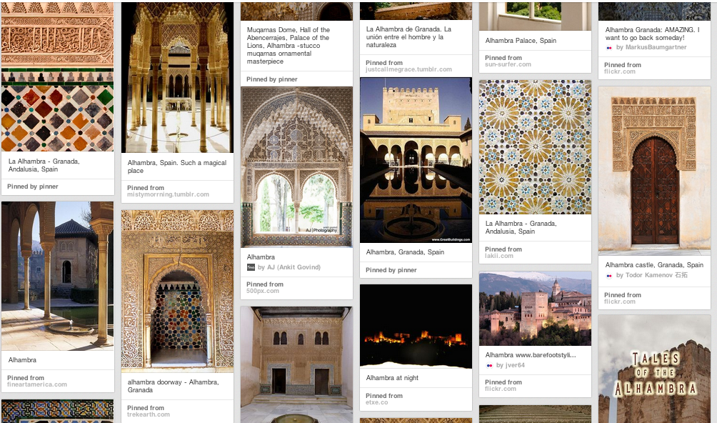Alhambra Pinboard