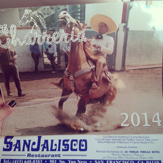 San Jalisco Calendar 2014