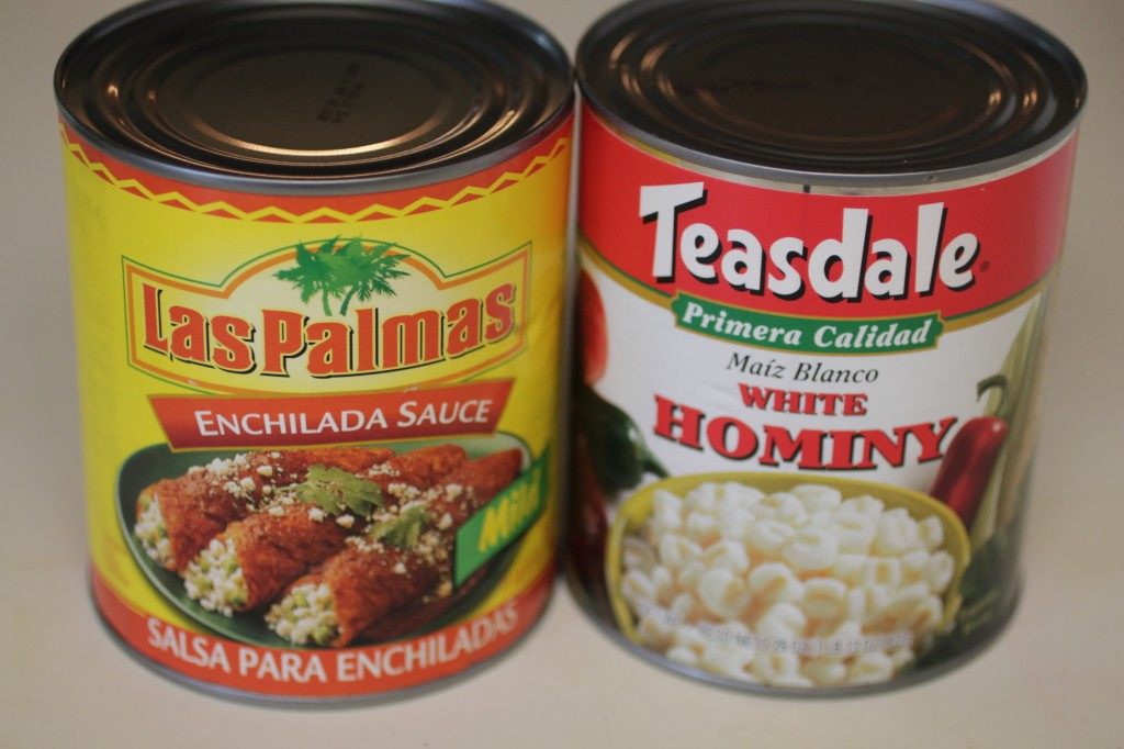 Las Palmas Enchilada Sauce and Hominy  red pozole