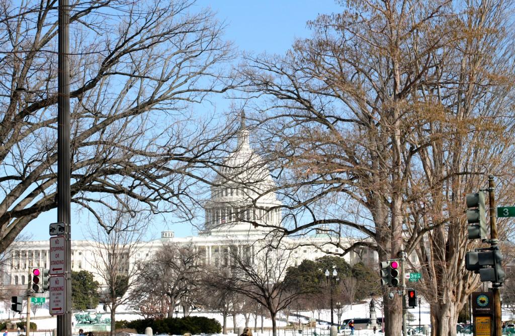 Capitol snow washington dc