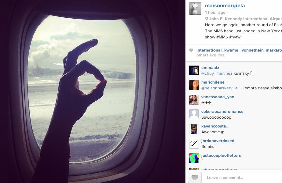 Screen shot @maisonmargiela Instagram photo