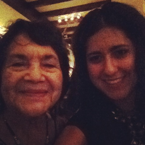 Dolores Huerta and Stephanie Echeveste selfie