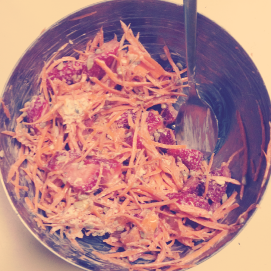 Carrot Strawberry Salad