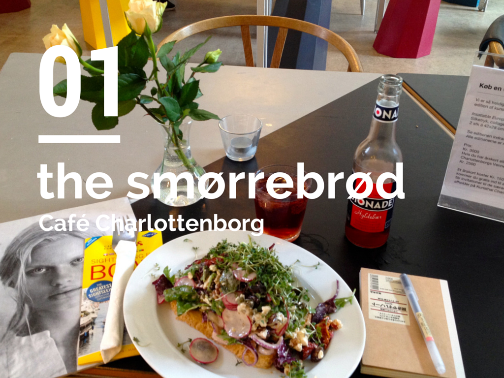 the smorrebrød at Cafe Charlottenborg