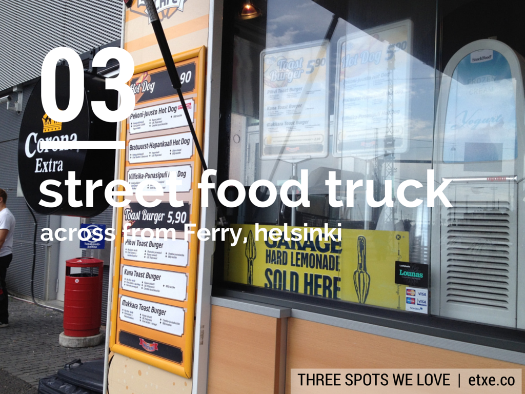 street food eating in Helsinki