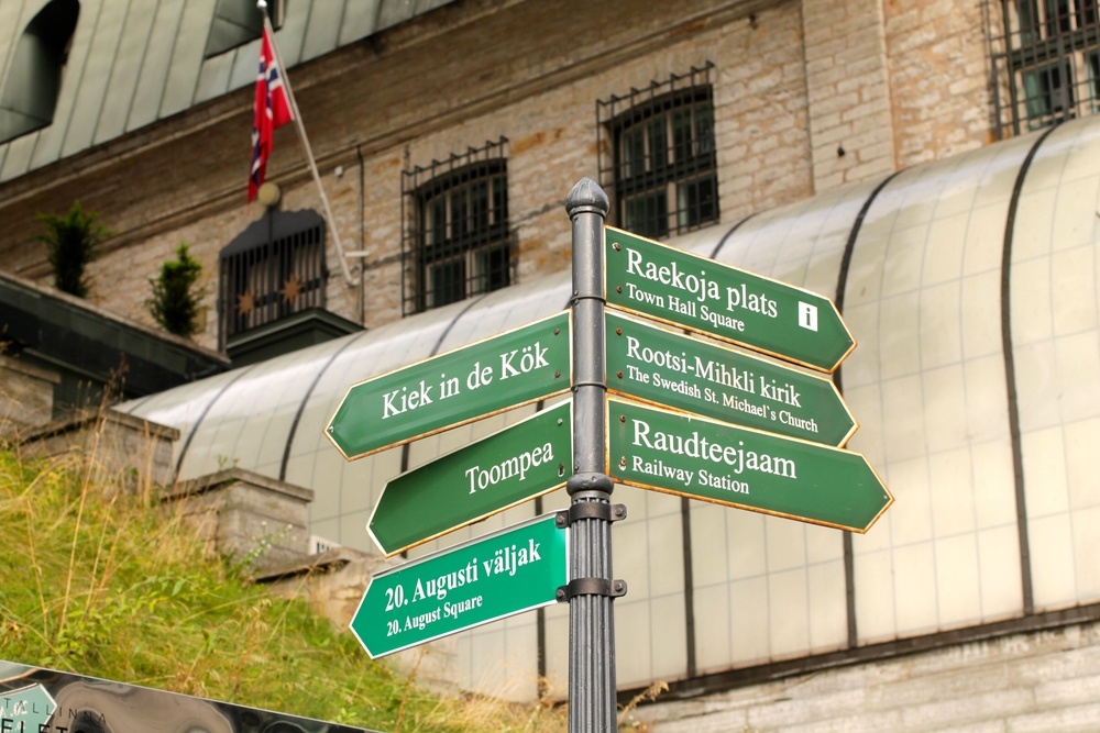 Tallinn city street signs