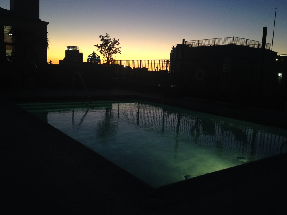 The rooftop pool at my Airbnb