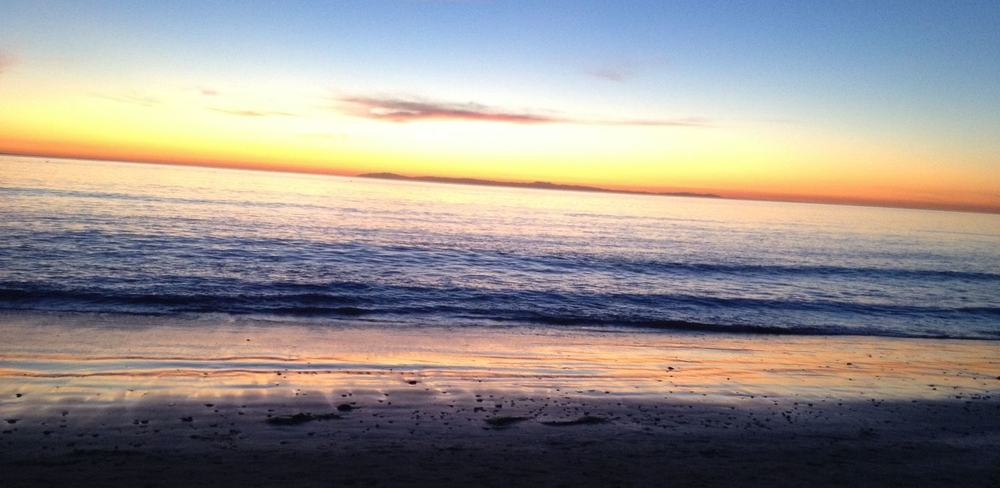 Laguna Beach at sunset