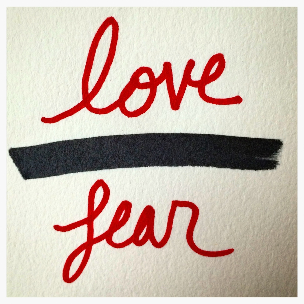 Click the image to listen to the Love over Fear playlist