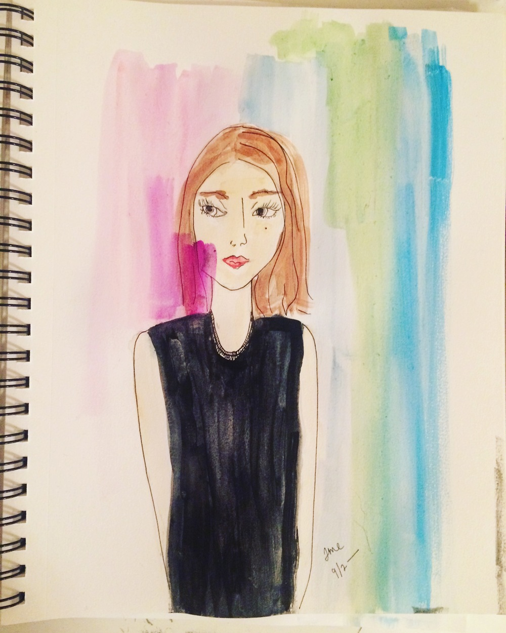 Here's a recent sketch/watercolor portrait.