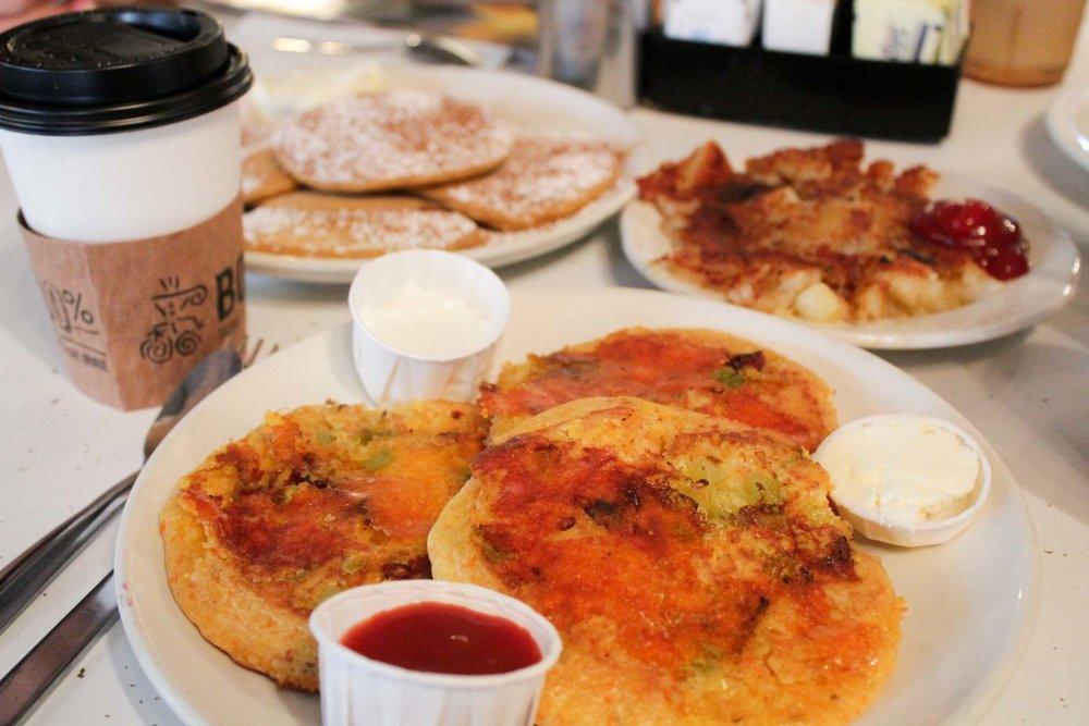 Southwestern pancakes at Pancake Pantry