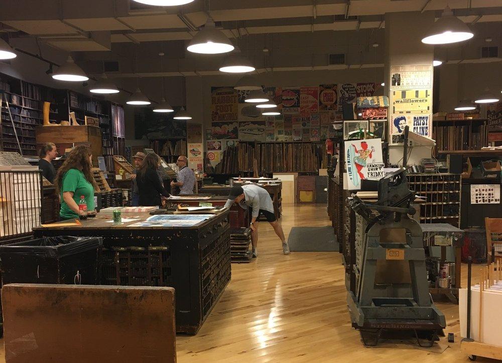 Hatch Show Print printshop