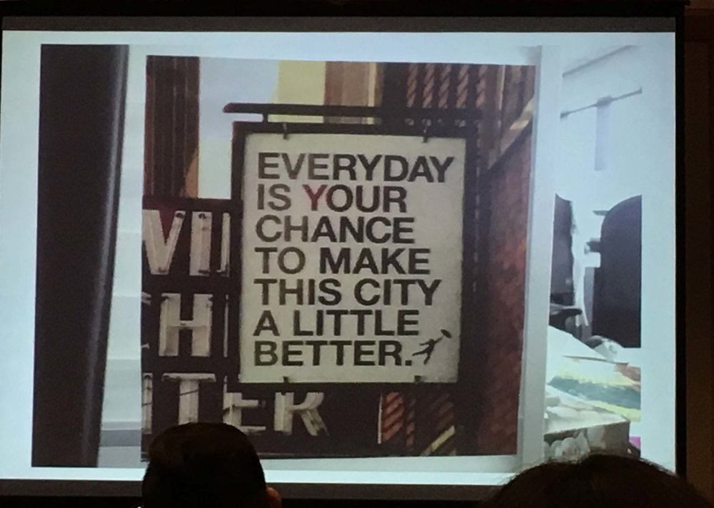 I love this. And I took this photo from a slide...and the presenter did not know the source. Please let me know in the comments if you know!