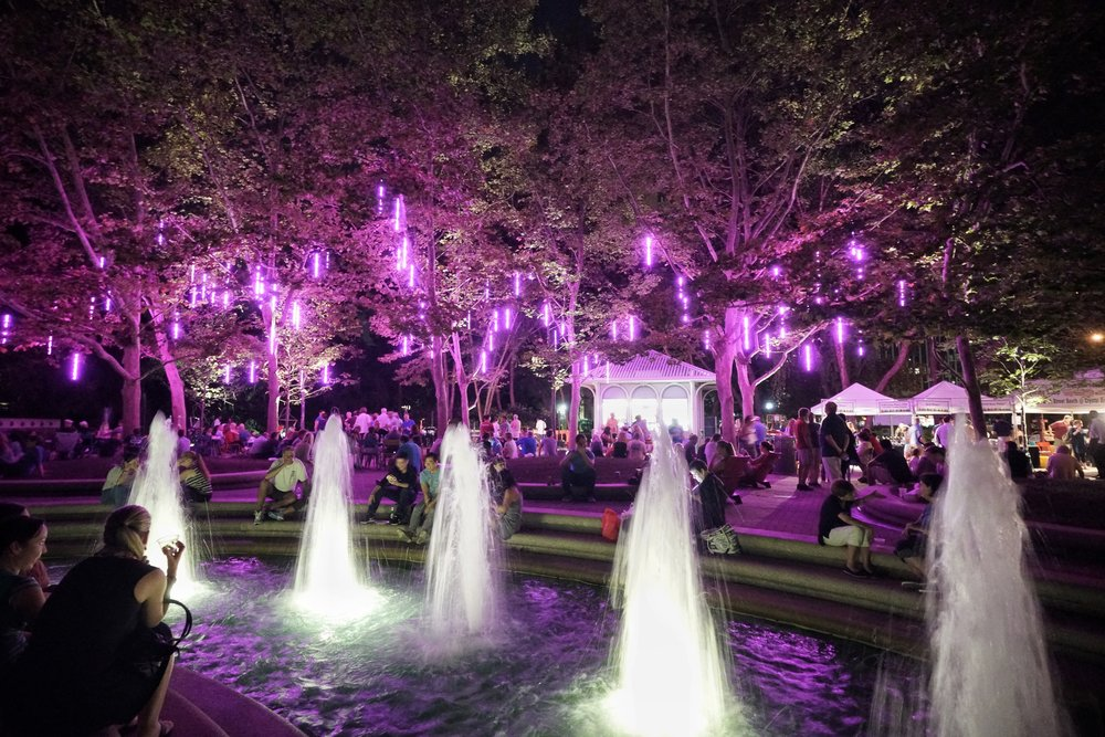 Location  Arlington, VA   Client  Vornado   Partners  Crystal City Business Improvement District, Plantations, Inc.   Role  Curator, Community Engagement Lead   Date  2016-current   About   Worked with partners to execute LED light installation in a public park with input from the community. Curate a monthly moving light experience.    A project of Vornado