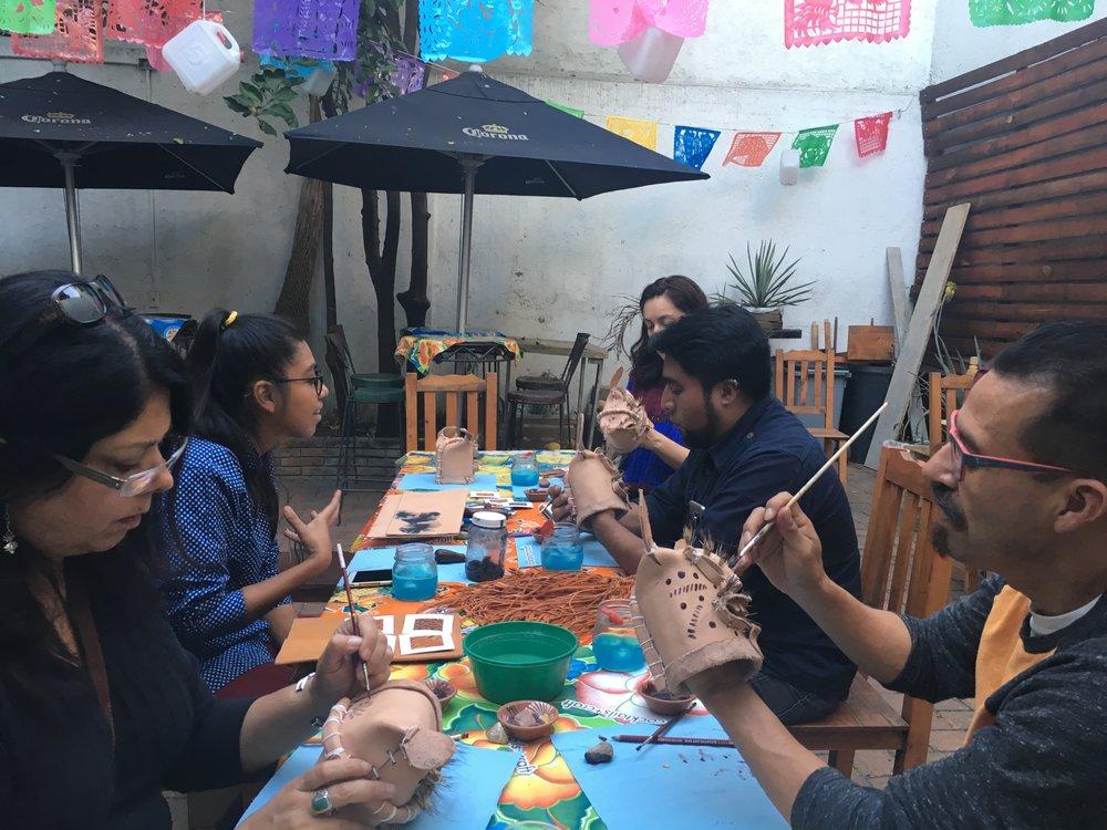 Mask workshop at Espacio Mezcal