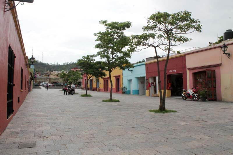 Plaza outside of El Volador, Oaxaca, Mexico