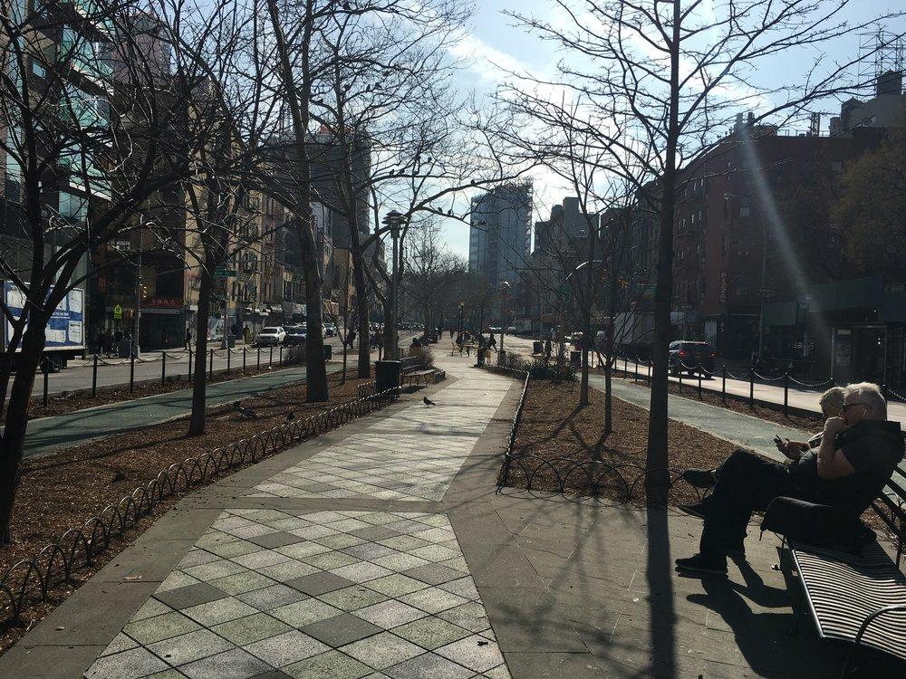 Pedestrian path on Allen Street