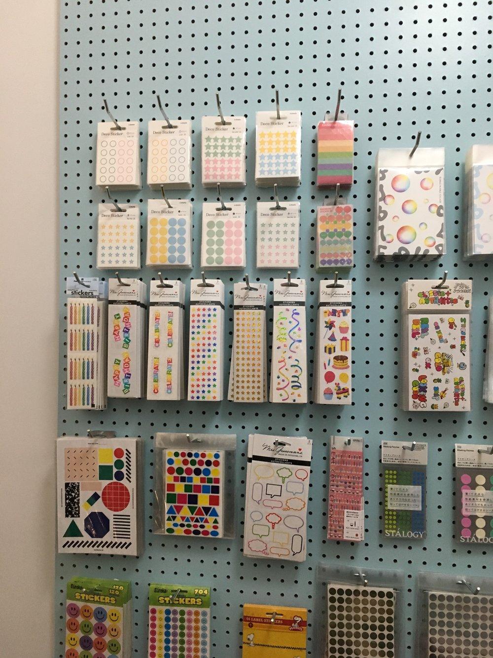 Sticker room at  CW Pencils