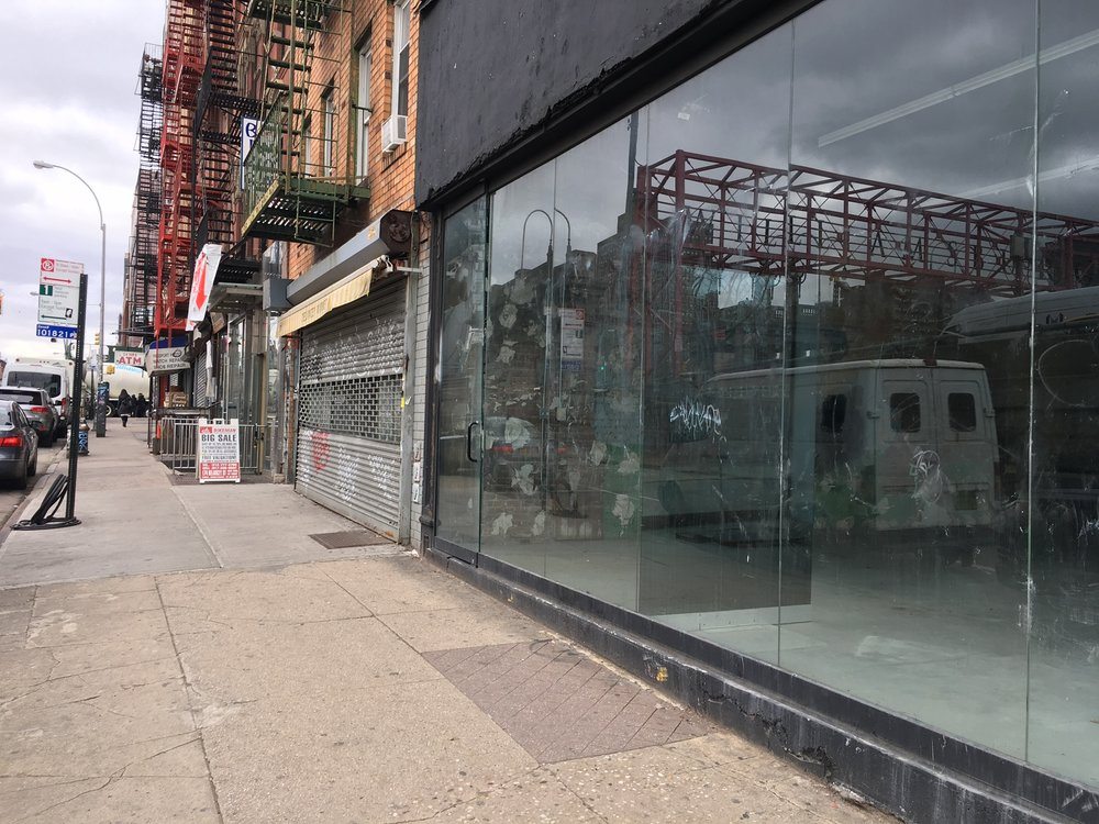 Empty retail on Delancey Street