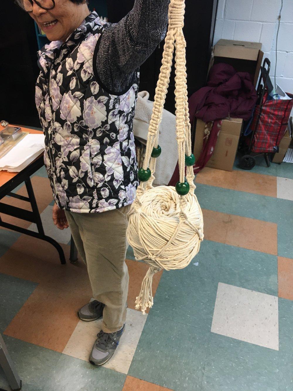 Week 5: A finished plant hanger!
