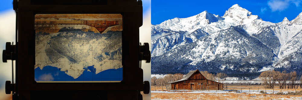 The famous Moulton Barn with the majestic Grand Tetons in the background.